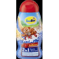 Детский шампунь с ароматом клубники Saubar 2 in 1 Dusche + Shampoo Erdbeere 250мл