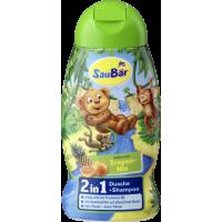 Купить Детский шампунь с фруктовым ароматом Saubar 2 in 1 Dusche + Shampoo Tropenfruchte 250мл - с доставкой по Украине