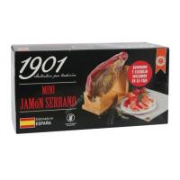 Купить Хамон, хамонера и специальный тонкий нож для нарезки хамона Mini Jamón SERRANO 800гр - с доставкой по Украине