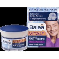 Ночной крем для очень зрелой кожи лица с кальцием и витамином В3 Balea Vital+ 50мл