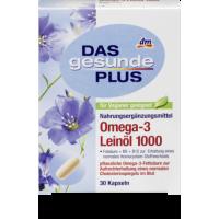 Омега 3 льняная Omega - 3 Leinöl 1000 Mivolis - Das gesunde Plus 30 шт.