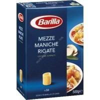 Паста Barilla Mezze Maniche Rigate №84 (500г)