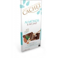 Шоколад Cachet Almonds & Sea Salt (100г)