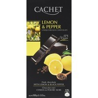 Шоколад Cachet Dark Lemon & Pepper (100г)