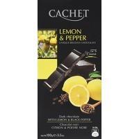 Шоколад Cachet Dark Lemon & Pepper (100г)