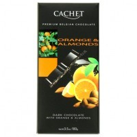 Шоколад Cachet Dark Orange&Almonds (100г)
