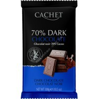 Шоколад Cachet Extra Dark Chocolate 70% (300г)