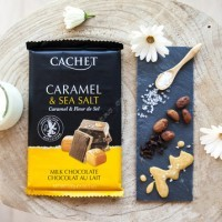 Шоколад Cachet Milk Chocolate 32% with Salted Caramel (300г)