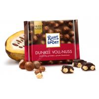 Шоколад Ritter Sport черный с цельным лесным орехом (100г)