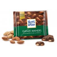 Шоколад Ritter Sport молочный с цельным миндалем (100г)