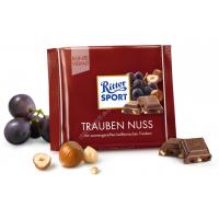 Шоколад Ritter Sport молочный с изюмом и фундуком (100г)