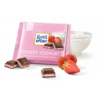 Шоколад Ritter Sport с клубничным йогуртом (100г)