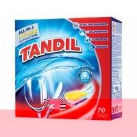 Таблетки для посудомойки всекомпонентные Tandil all-in-1 POWER (70шт)