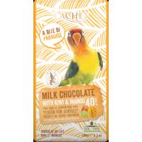 Элитный бельгийский молочный шоколад 40% Танзанийского какао с киви и манго Cachet MILK CHOCOLATE with kiwi & mango 180г