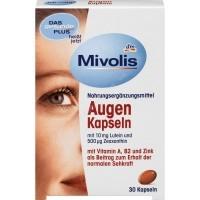 Комплекс витаминов для зрения Mivolis - DAS gesunde PLUS Augen с Vitamin A, B2 и Zink Das Gesunde Plus 30 шт - 4010355570222