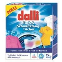 Купить Абсорбирующие салфетки для стирки для всех типов тканей Dalli Farb & Schmutzfangtucher, 15 штук - с доставкой по Украине