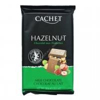 Шоколад Cachet молочный с фундуком Milk Chocolate 32% with HAZELNUT (300г)