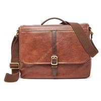 Мужская деловая сумка Fossil EVAN COMMUTER - цвет коричневый