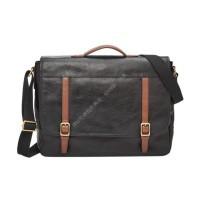 Мужская деловая сумка Fossil EVAN MESSENGER - цвет черный