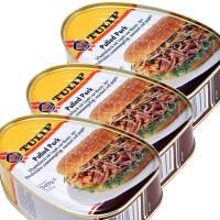 Мясо консервированное Tulip Свинина Барбекю - 1020г (3шт по 340г) (Дания)