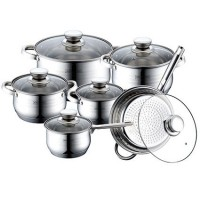 Набор кухонной посуды 12 В 1 ROYALTY LINE RL-1231 (4 КАСТРЮЛИ, СОТЕЙНИК, СКОВОРОДА)