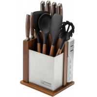 Набор ножей CS KOCHSYSTEME Solingen SOLTAU 12tlg Messerblock с кухонными принадлежностями и точилкой, 12 предметов