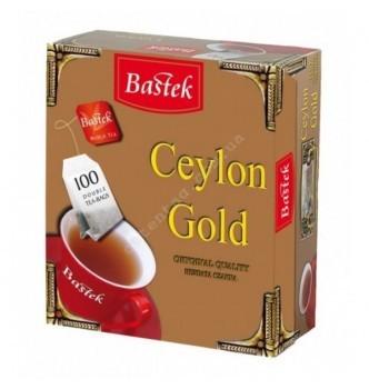 Купить Чай Bastek Ceylon Gold пакетированный 100пак - с доставкой по Украине