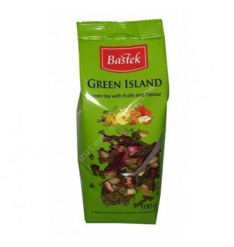 Купить Чай Bastek Green Island листовой зеленый с фруктами 100г - с доставкой по Украине