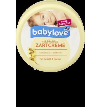 Купить Детский крем для ухода за сухой кожей с маслом миндаля Babylove Zartcreme Reichhaltige Gesicht & Körper 150мл - с доставкой по Украине