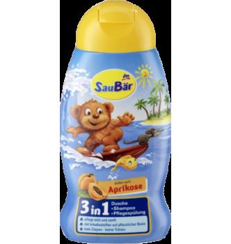 Купить Детский Шампунь + гель для душа + кондиционер 3в1, Saubar Dusche + Shampoo + Pflegespülung 3in1, 250мл - с доставкой по Украине