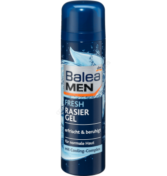Купить Гель для бритья Свежесть и Прохлада с экстрактом миндаля Balea Men Fresh Rasier Gel 200 мл - с доставкой по Украине