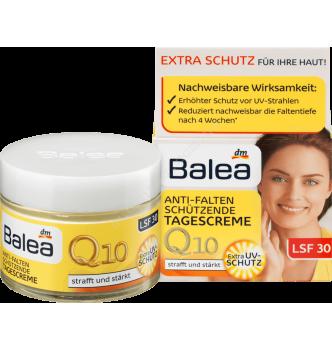 Купить Крем для лица с Q10 против морщин дневной (от 30 до 50 лет), Balea Q10 Anti-Falten Tagescreme, 50 мл - с доставкой по Украине