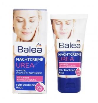 Купить Ночной крем для очень сухой кожи лица с 5% косметической мочевиной Balea Urea Nachtcreme mit 5 % Urea (50мл) - с доставкой по Украине