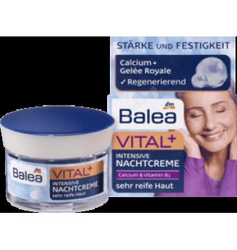Купить Ночной крем для очень зрелой кожи лица с кальцием и витамином В3 Balea Vital+ 50мл - с доставкой по Украине