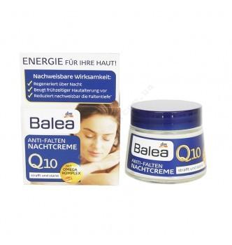 Купить Ночной крем против морщин с Сафлоровым маслом Balea Q10 Anti-Falten Nachtcreme (50мл) - с доставкой по Украине