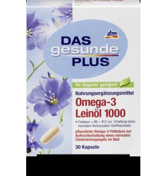 Купить Омега 3 льняная Omega - 3 Leinöl 1000 Mivolis - Das gesunde Plus 30 шт. - с доставкой по Украине