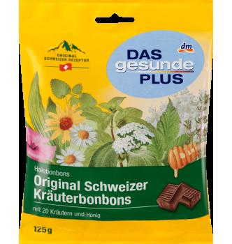 Купить Оригинальные швейцарские травяные леденцы с Медом Das gesunde Plus Original 125г - с доставкой по Украине