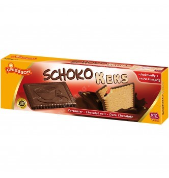 Купить Печенье с черным шоколадом Griesson Schokokeks Zartbitter 125 г - с доставкой по Украине