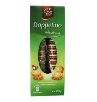 Купить Печенье с орехово-кремовой начинкой Doppelino, 500г - с доставкой по Украине
