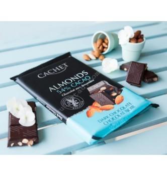 Купить Шоколад Cachet Dark Chocolate 54% with Almonds (300г) - с доставкой по Украине