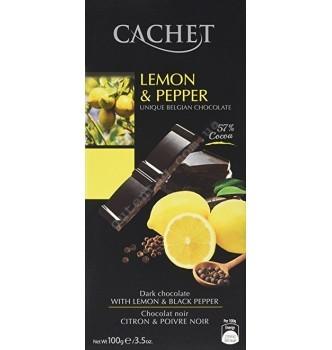 Купить Шоколад Cachet Dark Lemon & Pepper (100г) - с доставкой по Украине