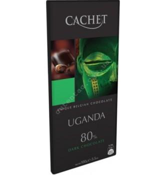Купить Шоколад Cachet Dark Uganda 80% (100г) - с доставкой по Украине