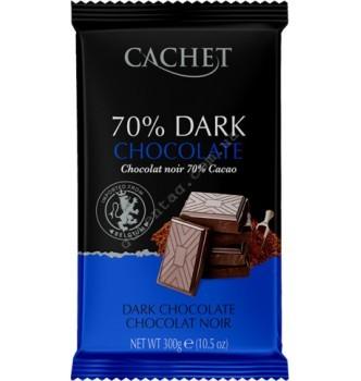Купить Шоколад Cachet Extra Dark Chocolate 70% (300г) - с доставкой по Украине