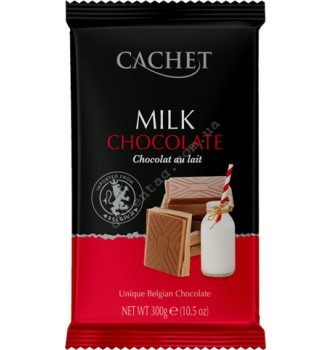 Купить Шоколад Cachet Milk Chocolate 32% (300г) - с доставкой по Украине
