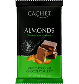 Купить Шоколад Cachet Milk Chocolate 32% with Almonds (300г) - с доставкой по Украине