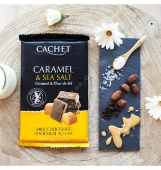 Купить Шоколад Cachet Milk Chocolate 32% with Salted Caramel (300г) - с доставкой по Украине