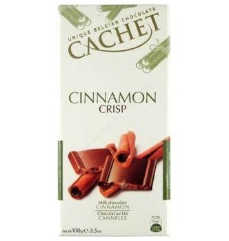 Купить Шоколад Cachet Milk Cinnamon Crisp (100г) - с доставкой по Украине