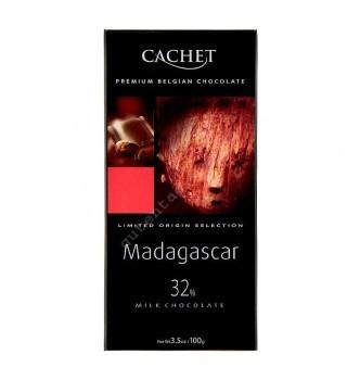 Купить Шоколад Cachet Milk Madagascar 32% (100г) - с доставкой по Украине