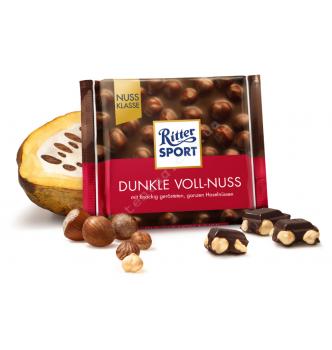 Купить Шоколад Ritter Sport черный с цельным лесным орехом (100г) - с доставкой по Украине