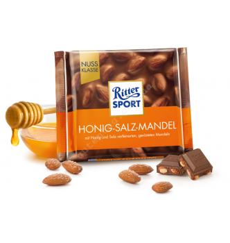 Купить Шоколад Ritter Sport Honig-Salz-Mandel (100г) - с доставкой по Украине